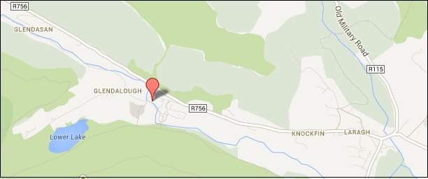 Glendalough Hotel map
