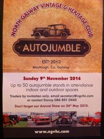 North Galway Vintage & Heritage Club Autojumble