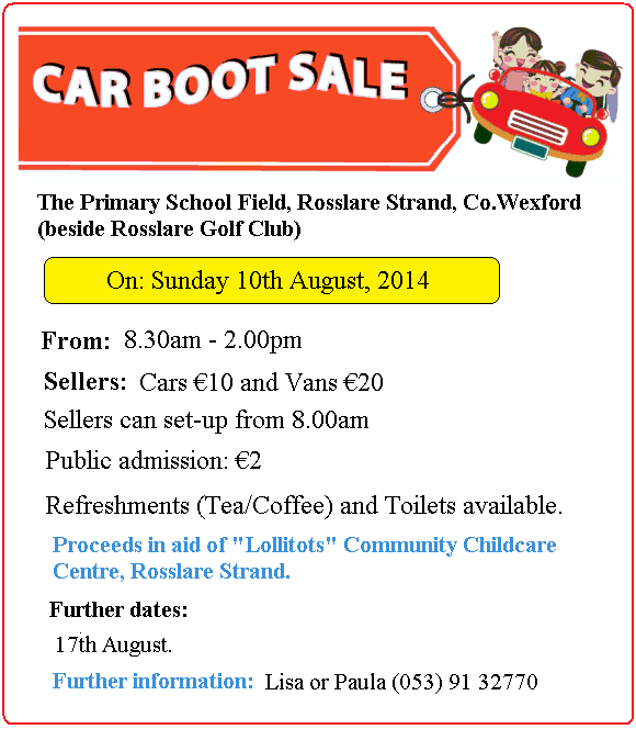 Wexford Youths Car Boot Sale