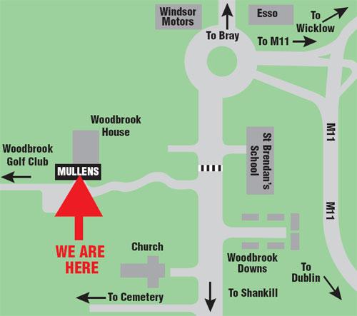 Mullens Bray Map
