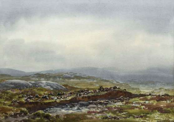 Lot.169. 'West of Ireland Bogland' by Frank Egginton. Est. €500-700