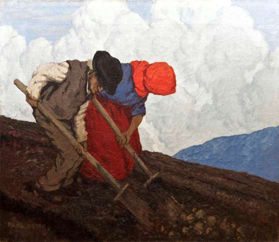 Lot.21. 'The Potato Diggers' by Paul Henry. Est. €250,000-350,000