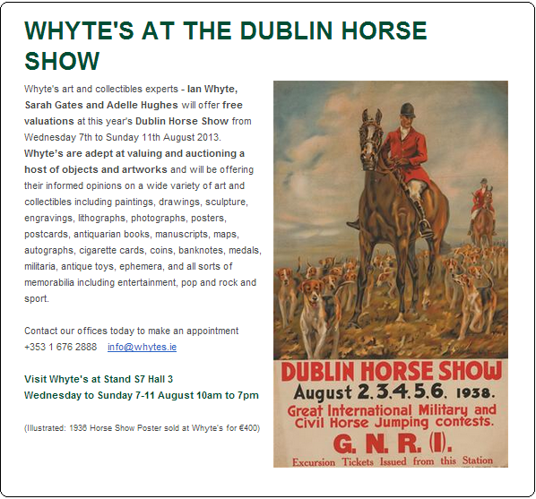 Dublin Horse Show Collect Ireland