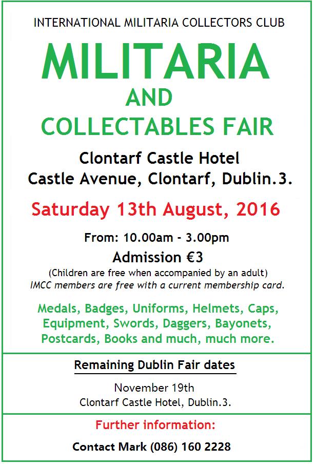 Militaria Fair Dublin AUGUST