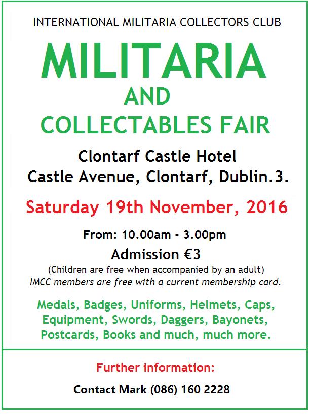 Militaria Fair Dublin NOV 2016