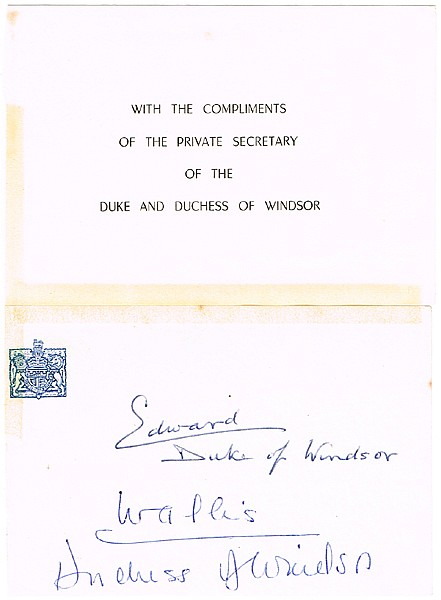Lot 269 Duke of WINDSOR autograph