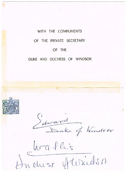 Lot 269 Duke of WINDSOR autograph