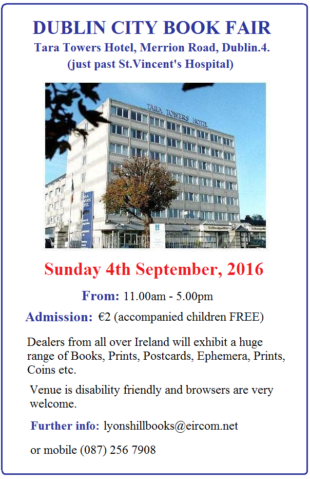 Dublin City Book Fair SEPT 2016