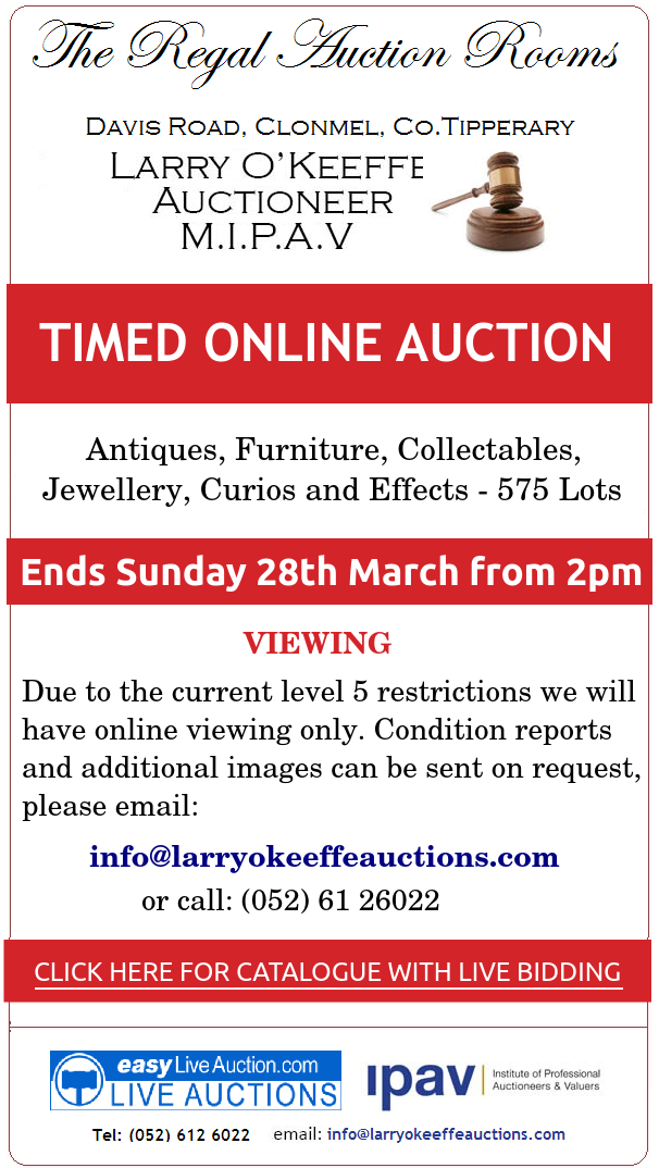 O'Keeffes ONLINE AUCTION MARCH 2021