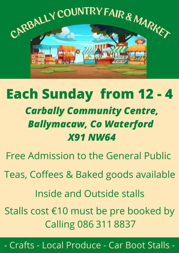 Carbally Country Fair & Market new poster